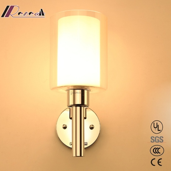 Modern Glass Ring Round Wall Lamp for Bedroom