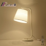 Simple American Style Fabric Covering Table Lamp for Living Room