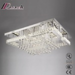 Modern Simple Square Crystal Ceiling Lamp for Living Room