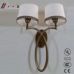 Modern Two Shade Fabric Wall Lamp for Bedroom